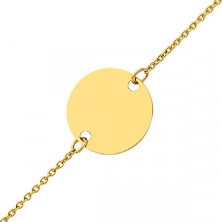 Bracelet JETON Or jaune 750°°° - 14cm