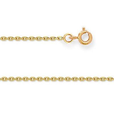 Chaine FORCAT Or 375°°° Diamantée 1,2MM - 45cm