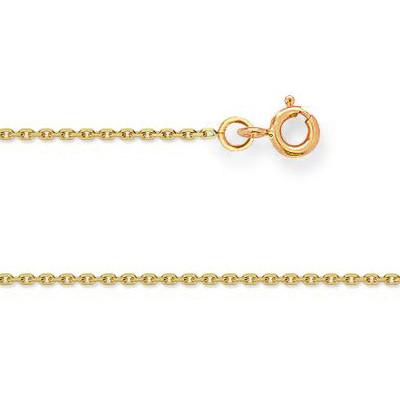 Chaine FORCAT Or 375°°° Diamantée 1MM - 40cm