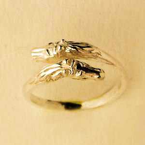 Bague Or TETE CHEVAL DOUBLE BETA