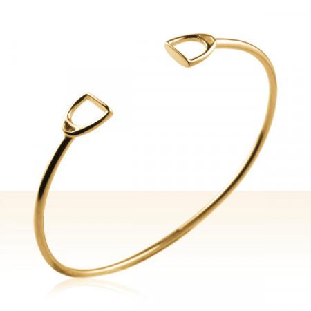 Bracelet Plaqué Or JONC ETRIER