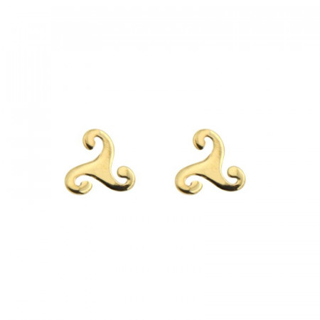 Boucles d'oreilles TRISKELL PLAT PM Or 375°°°