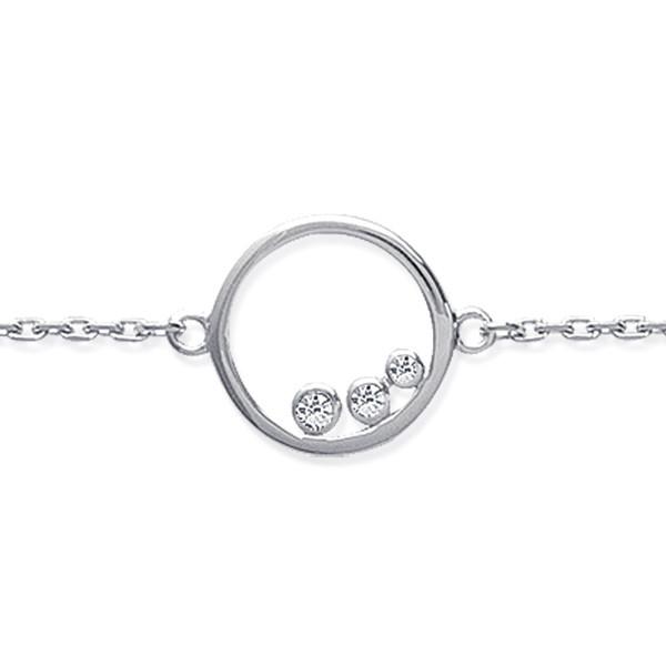 bracelet argent cercle