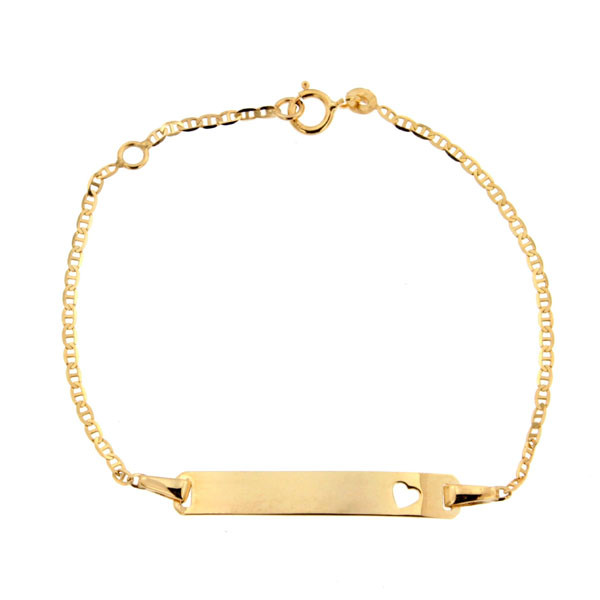 gourmette bapt me or 375 plaque coeur bracelet bapteme cadeau de naissance bijoux bebe. Black Bedroom Furniture Sets. Home Design Ideas