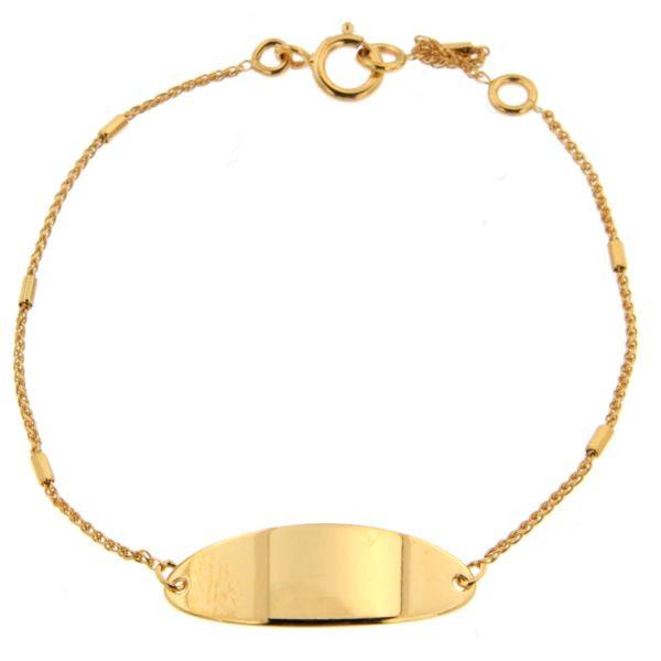 bracelet identit b b or 375 chaine baton bracelet bapteme cadeau de naissance bijoux bebe. Black Bedroom Furniture Sets. Home Design Ideas