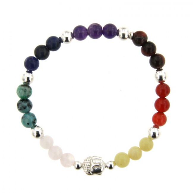 bracelet argent chakra