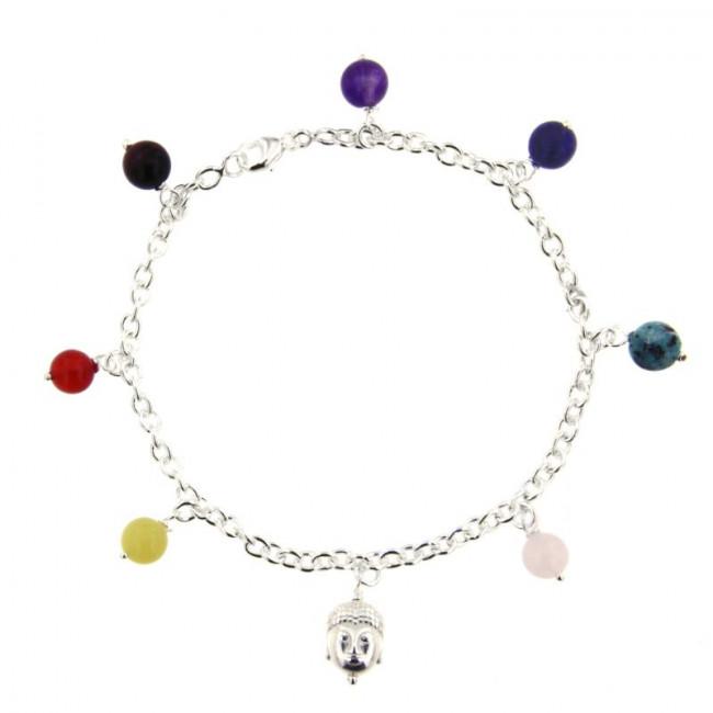 bracelet argent bouddha