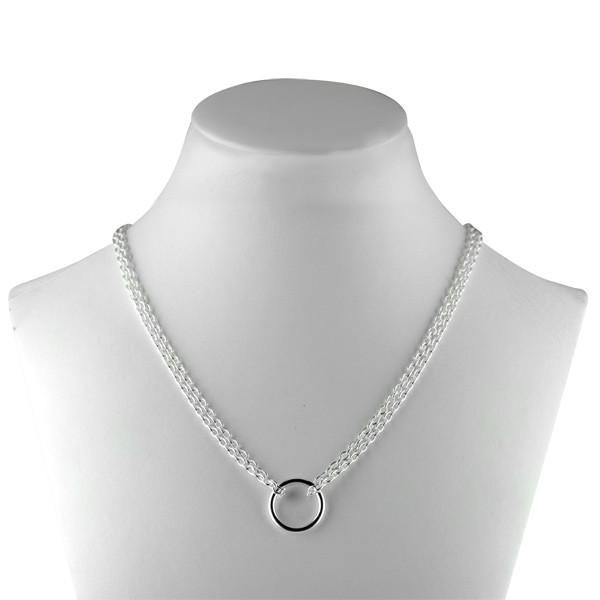 collier argent femme original