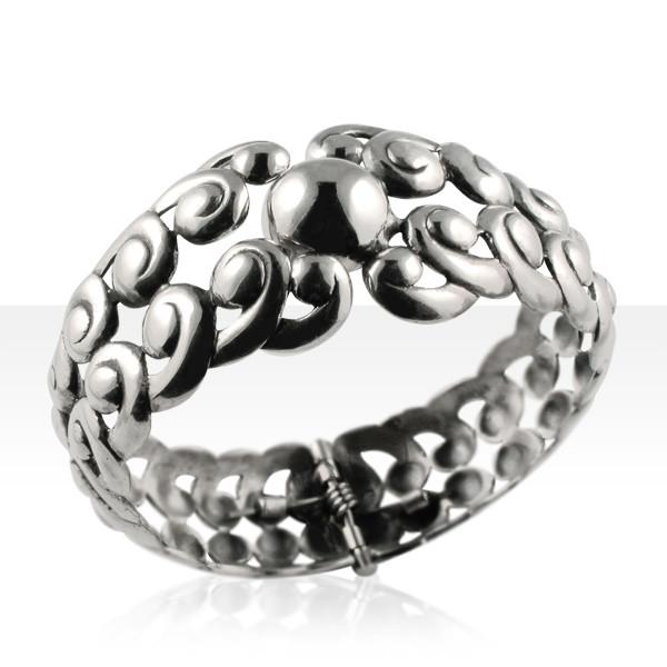 bijoux anciens basques bracelet argent rigide ressort boule bijoux basques madilar. Black Bedroom Furniture Sets. Home Design Ideas