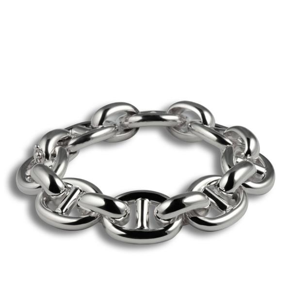 bracelet argent maille marine