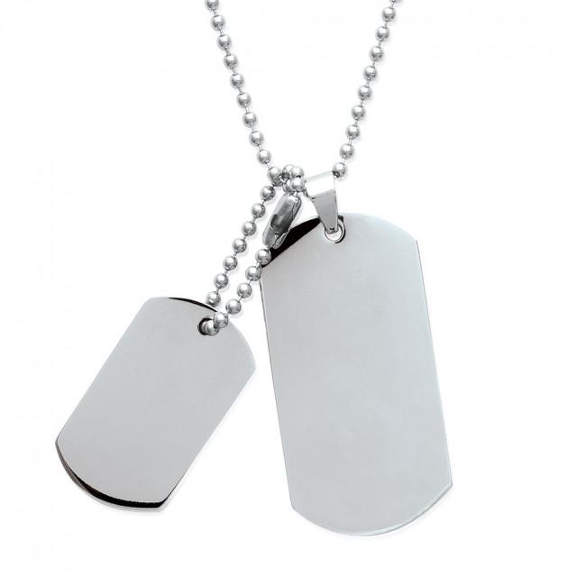 collier femme plaque militaire