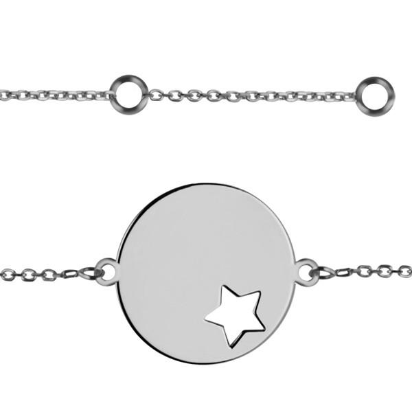 bracelet identit m daille toile or 375 gm ado. Black Bedroom Furniture Sets. Home Design Ideas