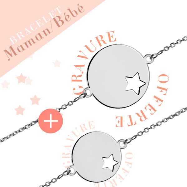 bracelet identit m daille toile or 375 gm ado adulte bracelet maman cadeau de. Black Bedroom Furniture Sets. Home Design Ideas