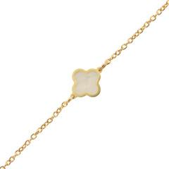 Bracelet Trefle en Or , un bijou femme délicat