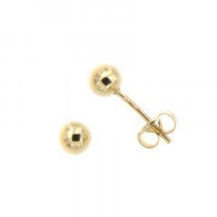 Boucles d'oreilles BOULE 4MM Or 375°°° - Poussette