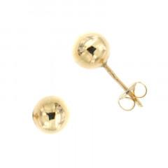 Boucles d'oreilles BOULE 6MM Or 375°°° - Poussette