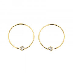 Boucles d'oreilles Or 375 °°° Tourbillon  OZ