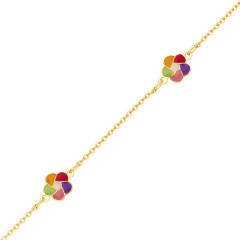 bracelet fleur en Or pour enfant
