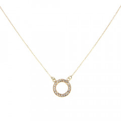 Collier Or 375°°° Cercle Oxyde L: 40cm