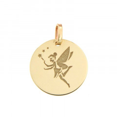 Médaille FEE CLOCHETTE Or 375°°°