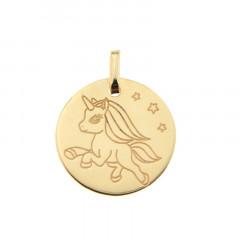 Médaille LICORNE ETOILE Or 375°°°