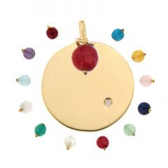 Médaille Pierre de Naissance Diamant  - Or 375