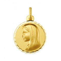 Médaille ronde VIERGE MARIE Or 375°°°