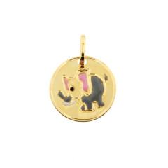 Médaille Or 375°°°  ELEPHANT