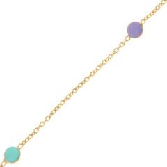Bracelet Or 375°°° RONDS PASTELS - 14+2cm