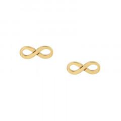 Boucles d'oreilles INFINI Or 375°°° - VIS SECURITE