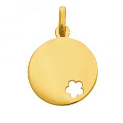 Médaille bébé Or 375°°° FLEUR AJOUREE