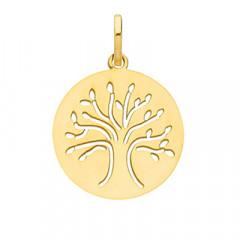 medaille bapteme arbre de vie Or