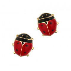 Boucles d'oreilles Or 375°°° COCCINELLE GM - VIS SECURITE