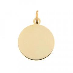 Médaille laïque bébé Or 375°°° UNIE A GRAVER