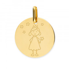 medaille bapteme petite fille