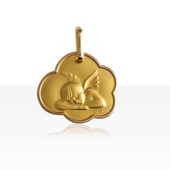 Médaille nuage ANGE ENDORMI Or 375°°°