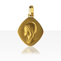 Médaille losange VIERGE PROFIL Or 375°°°