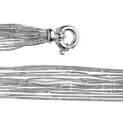 Bracelet Argent QDR25/Boule 12 rangs