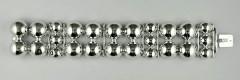 Bracelet Argent 4 BOULES PLATES