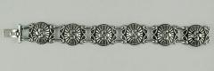 Bracelet Argent GODRONS croix BASQUE