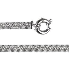 Bracelet Argent CHAINE PLATE DIAMANTEE GM