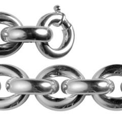 Bracelet Argent GROS FIL ROND+1/ ANNEAU
