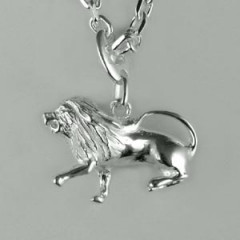 Porte-clés Argent LION