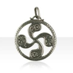 Médaille Argent TREFLE A FLEURS 5