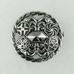 Broche Argent PYRAMIDE RONDE