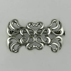 Broche Argent SERPENT RECTANGLE