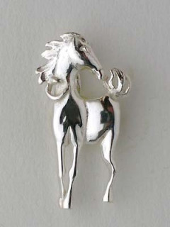 Pin's Argent CHEVAL DE FACE PM