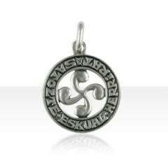 Médaille Argent Croix BASQUE ZATOZTE ESK