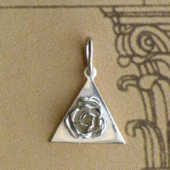 Triangle Argent PLEIN + ROSE Z45