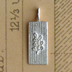 Plaque Argent RECTANG + ACACIA LONG